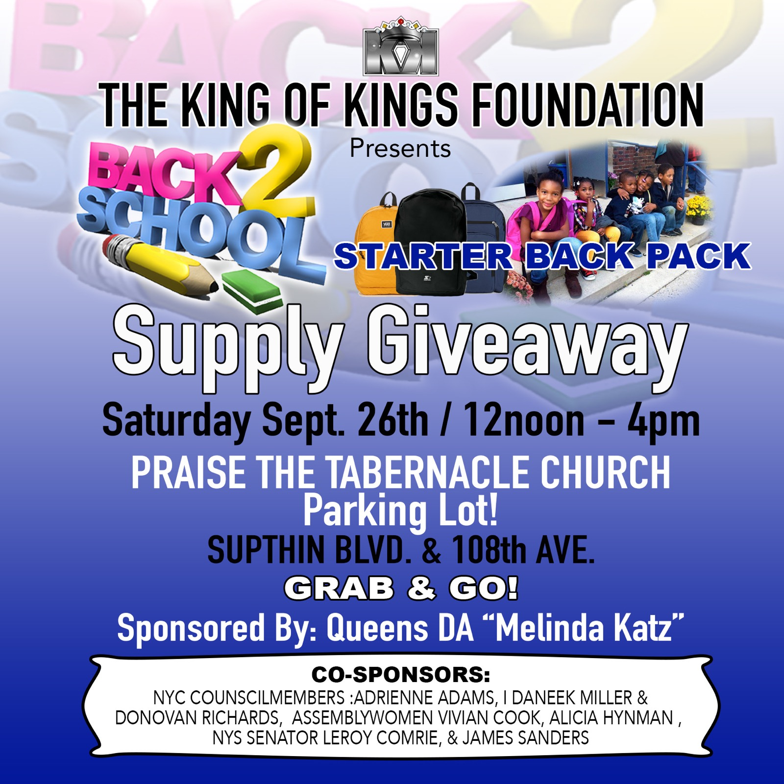 10th Annual Back 2 School Supply Giveaway